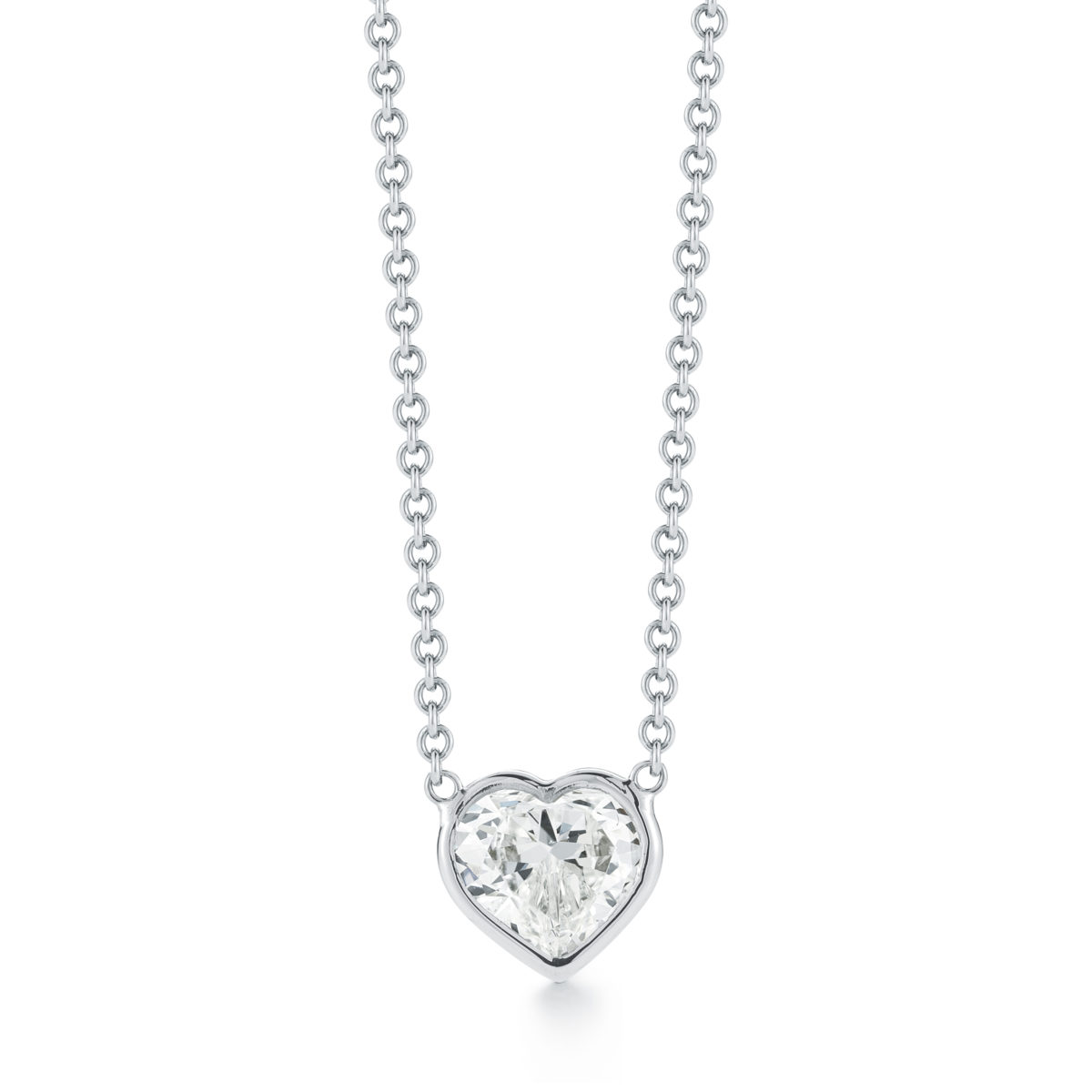 Classic bezel set heart shape diamond pendant marshall pierce classic bezel set heart shape diamond pendant aloadofball Gallery
