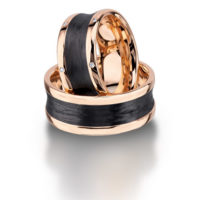 Furrer Jacot Rose Gold & Carbon Fiber Wedding Band