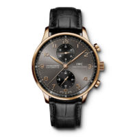 IWC Portugieser Chronograph in Rose Gold IW371482 Marshall Pierce & Company Chicago