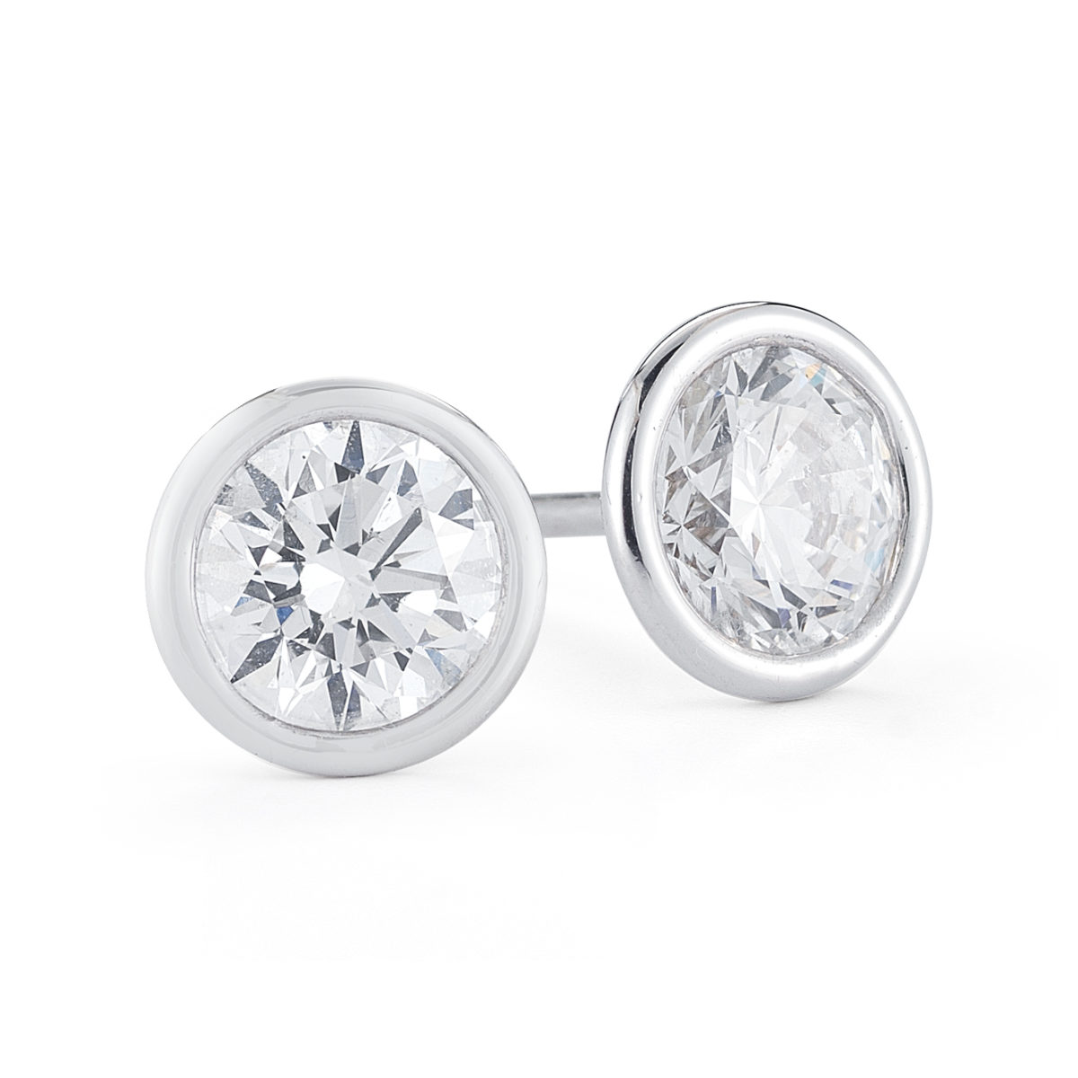 swarovski main stud earrings crystal bezel with index made set