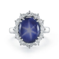 Star Sapphire Diamond Ring Marshall Pierce & Company
