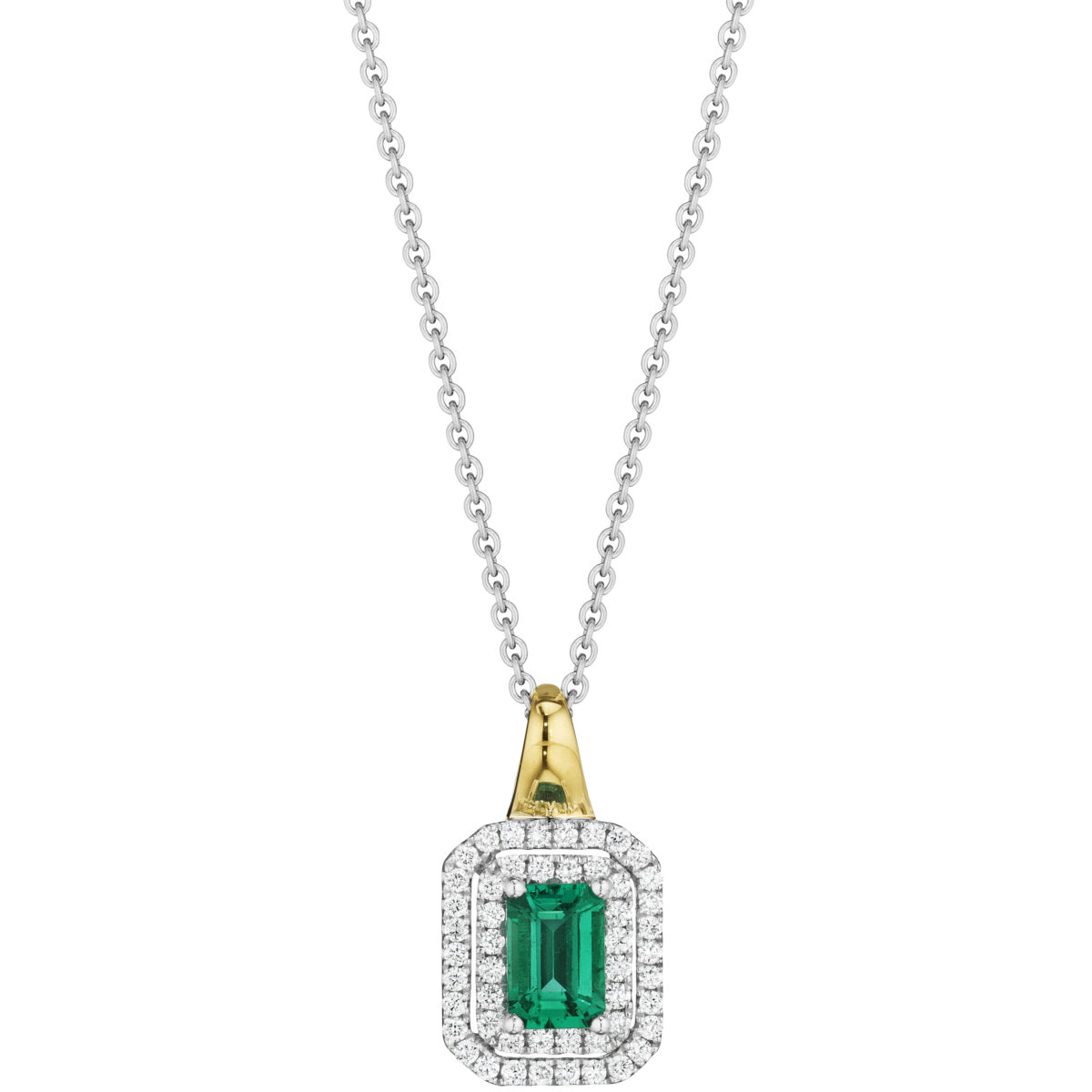 pendant necklace products odyssey diamond emerald natural crowne gold white