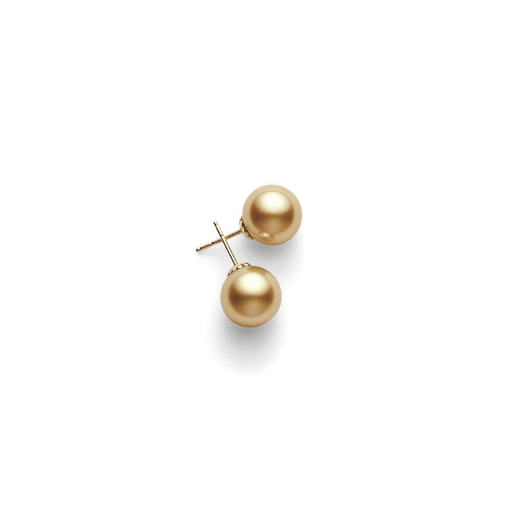 PES 1002G K Mikimoto Golden South Sea Pearl Stud Earrings Marshall Pierce & Company Chicago