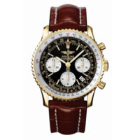 Pre Owned Breitling Navitimer Yellow Gold Strap Watch