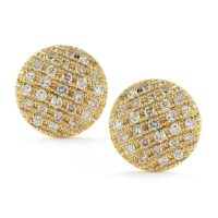 Dana Rebecca Medium Lauren Joy Studs in Rose Gold - E831