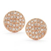 Dana Rebecca Medium Lauren Joy Studs in Rose Gold - E382