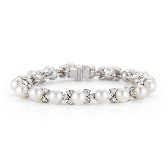 2 53 Carat Diamond Amp Pearl Bracelet Marshall Pierce