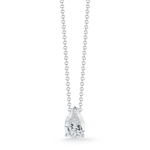 pear pendant forevermark sideways diamond