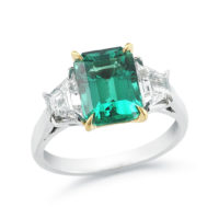 Oscar Heyman Brothers Emerald Diamond Ring