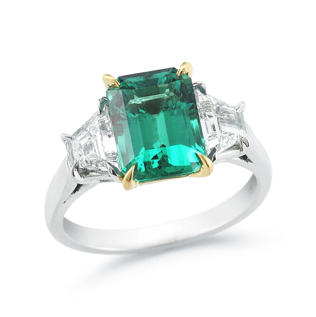 Oscar Heyman Emerald Amp Diamond Ring Recently Sold