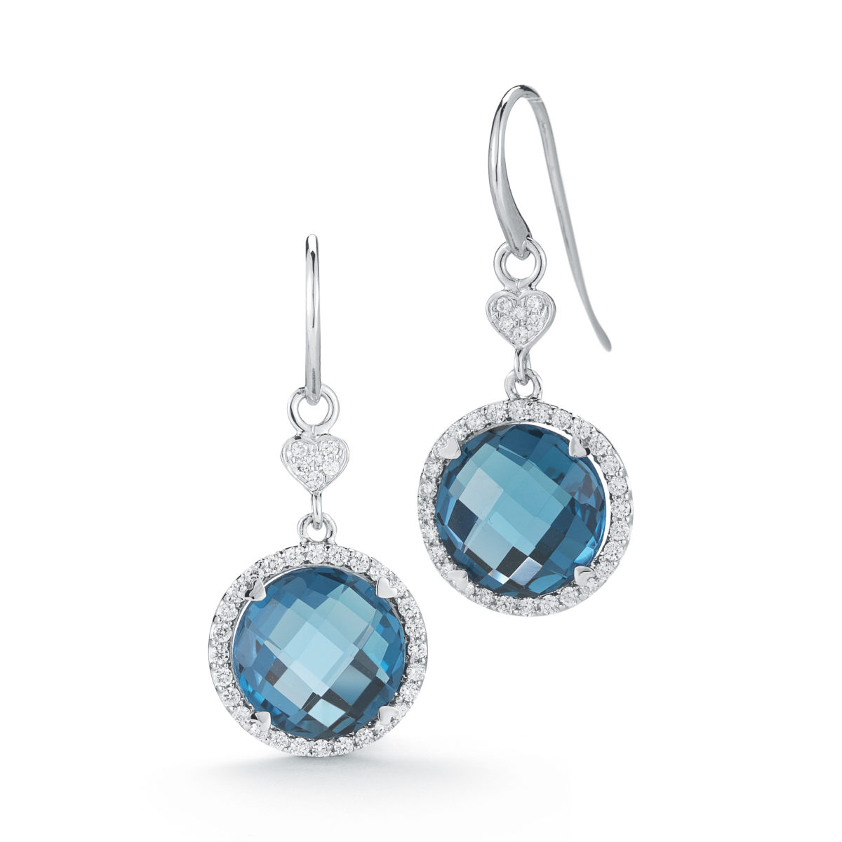 topaz oro in tw diamonds with blue jewelry rose jewellery earrings gold colore