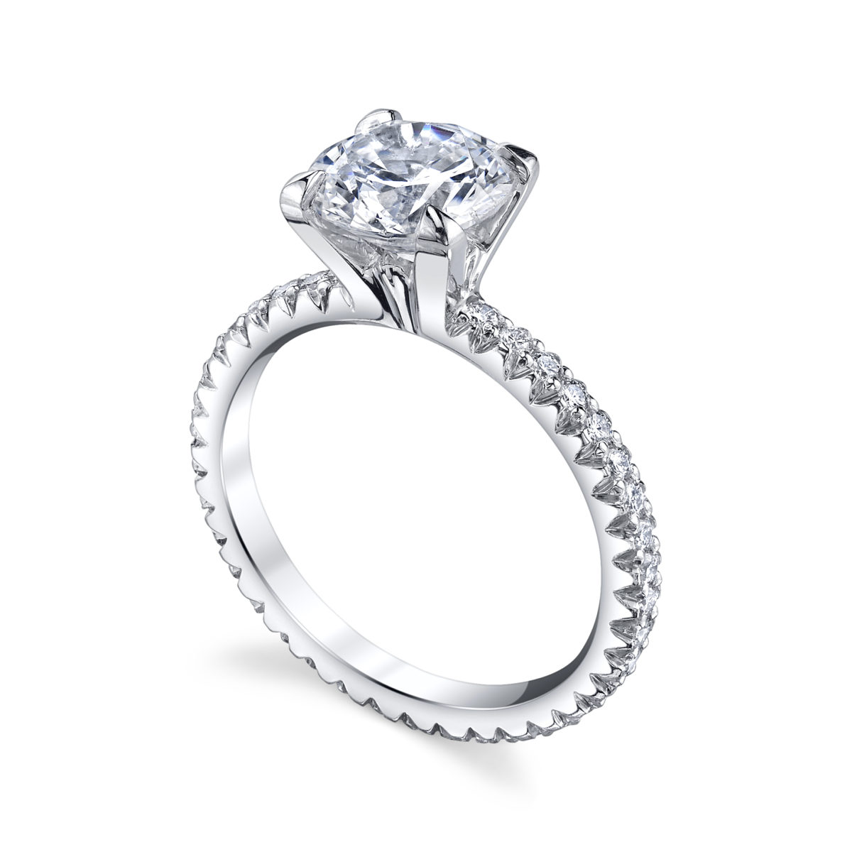platinum products solitaire claw princess engagement arthur ring cut white gold rings diamond kaplan