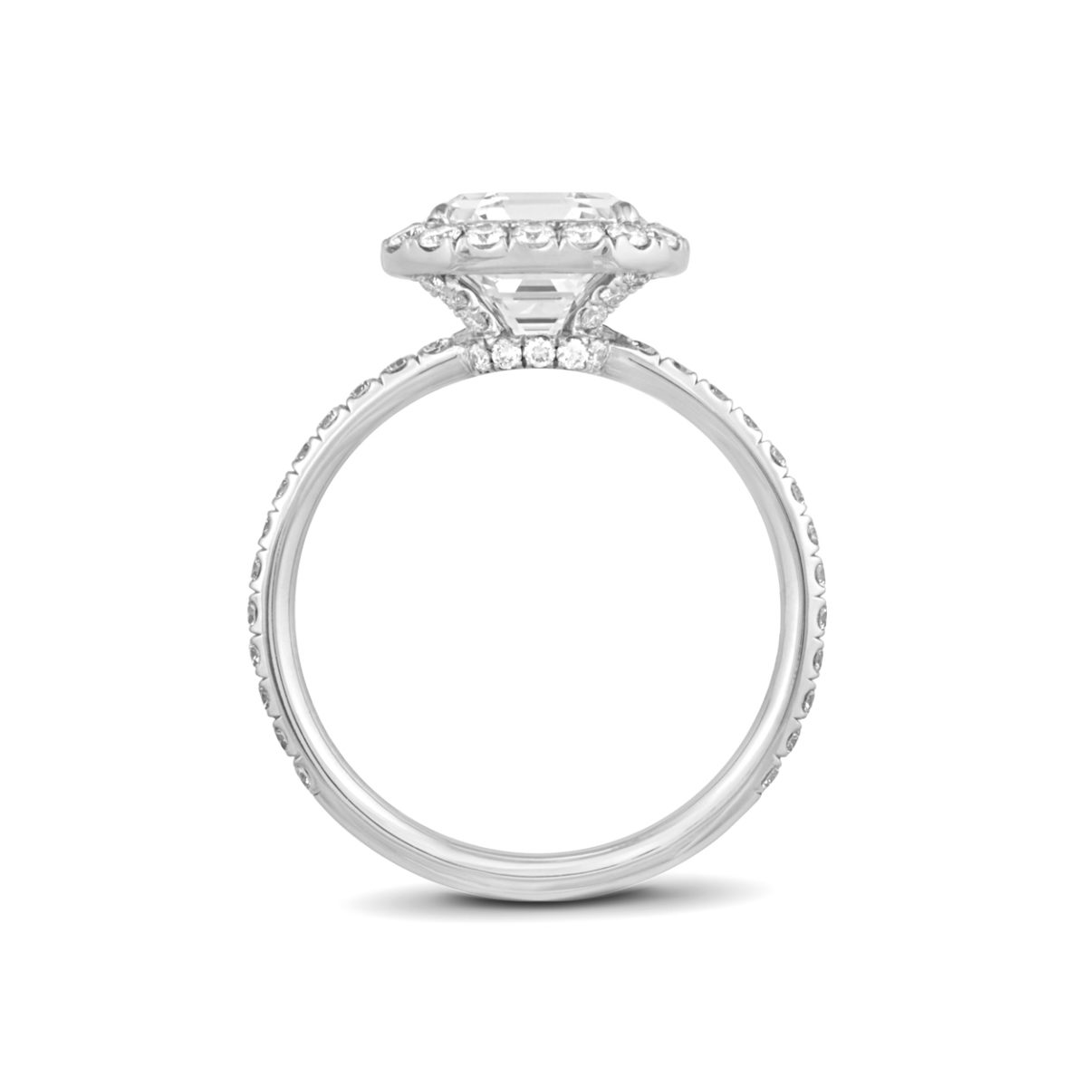 """Engagement Rings Chicago: Asscher-Cut """"Halo"""" Engagement Ring"""