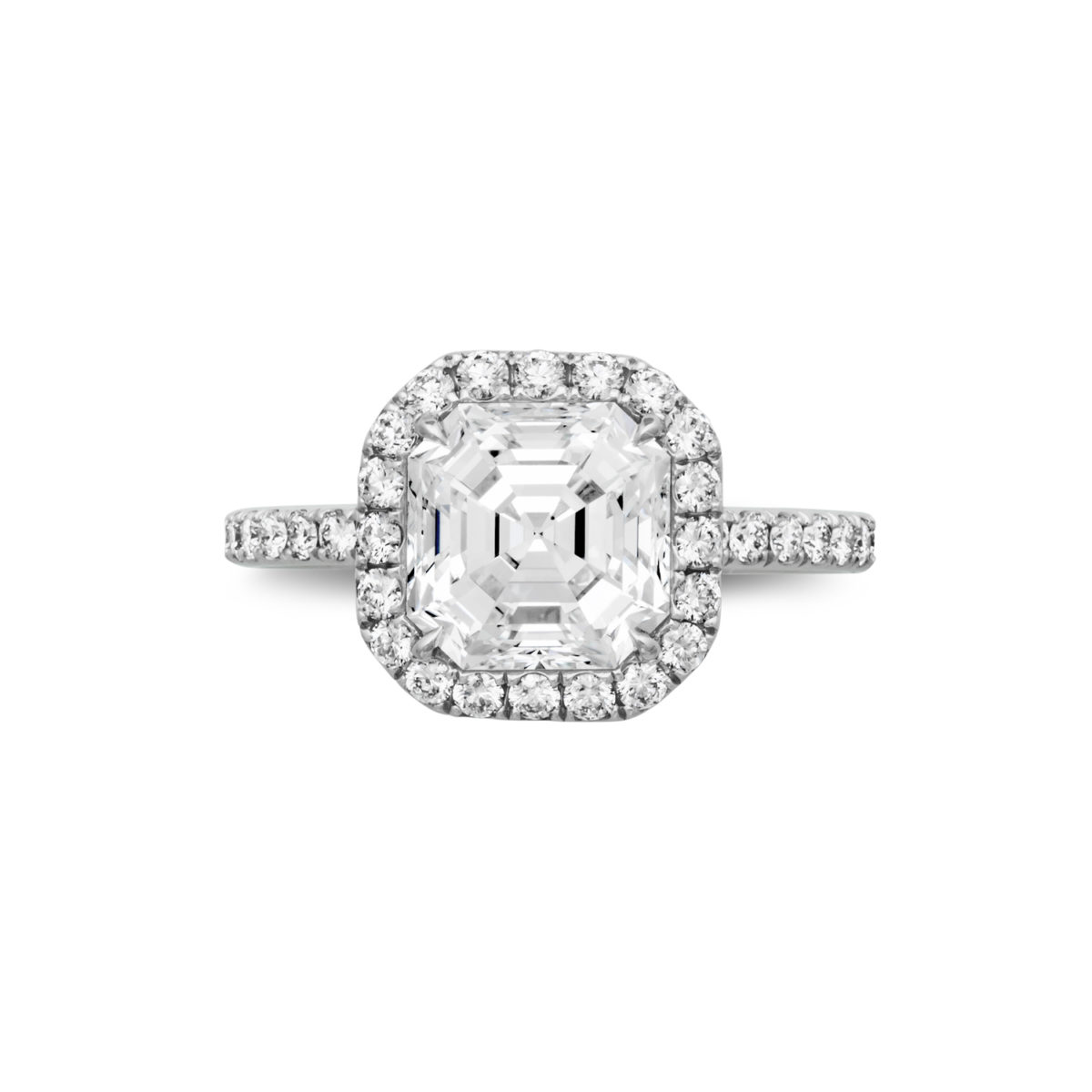 halo mikolay cut view ring products by rings asscher lei engagement per desires diamond danhov with and band