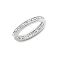 Oscar Heyman Baguette Diamond Eternity Band in Platinum Chicago Marshall Pierce
