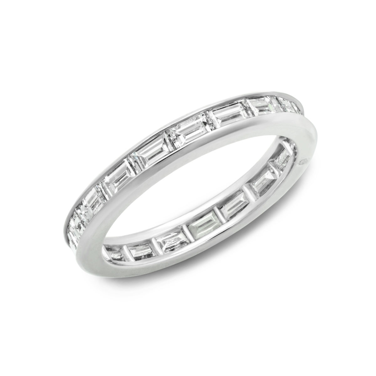 art cut diamond in platinum band product home eternity wedding bands deco baguette antique