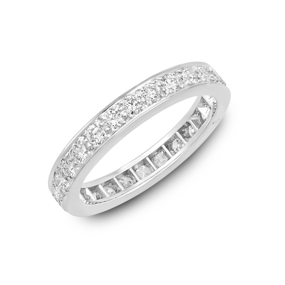 diamond eternity bands gumuchian band ct brilliant ring p tw round eac