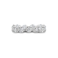 Oscar Heyman Round Diamond Zig Zag Prong Set Eternity Band Platinum Marshall Pierce Chicago 1