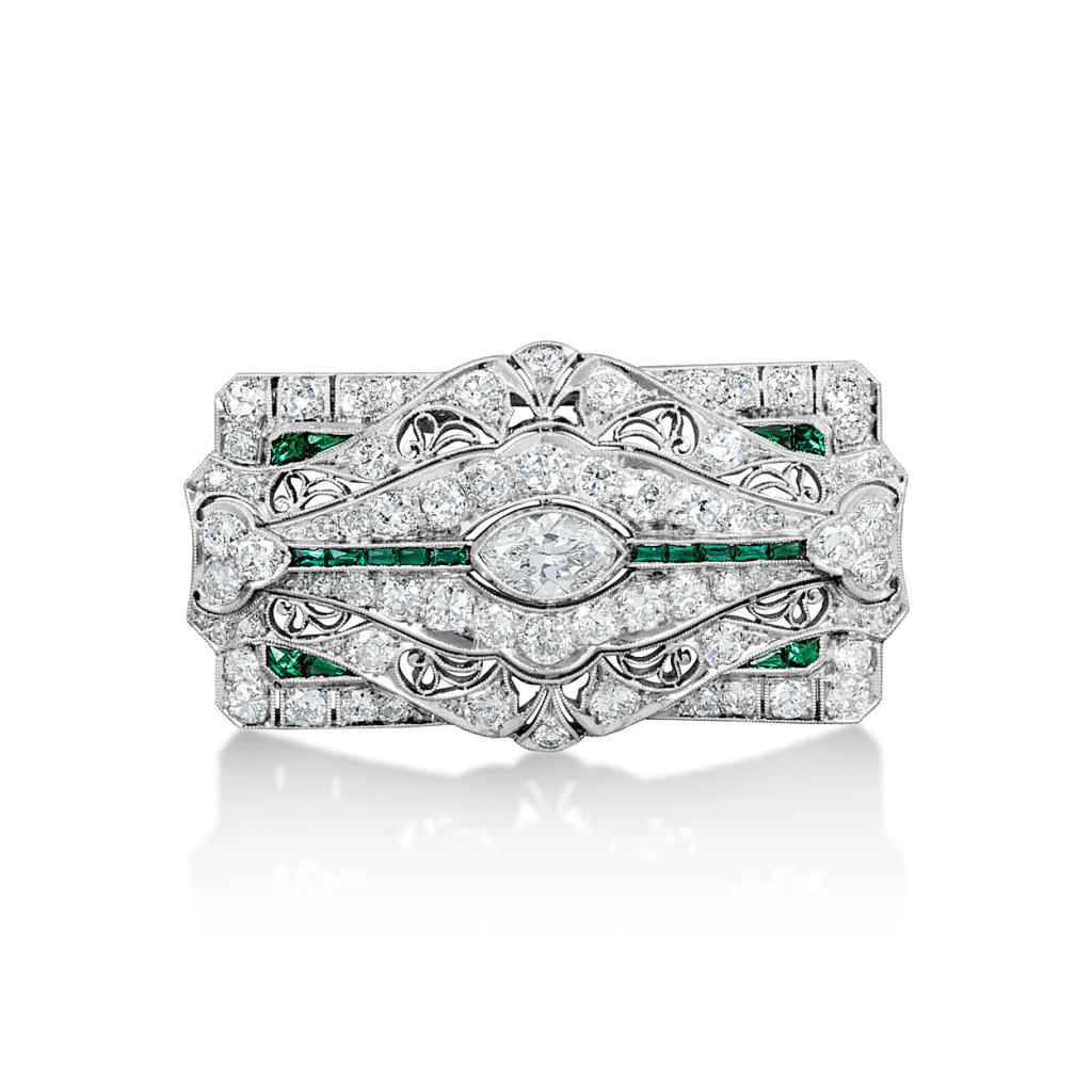 0 60 Carat Double Diamond Halo Sapphire Pendant also Art Deco Diamond Emerald Brooch Estate together with Columbian Emerald Diamond Ring in addition Dusk Blue The Pantone 2013 Spring Color Report In Jewelry further 0 73 Carat Cluster Stud Diamond Earrings. on oscar heyman jewelry company
