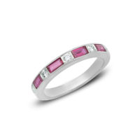 Oscar Heyman Ruby & Diamond Eternity Band Platinum Chicago Marshall Pierce