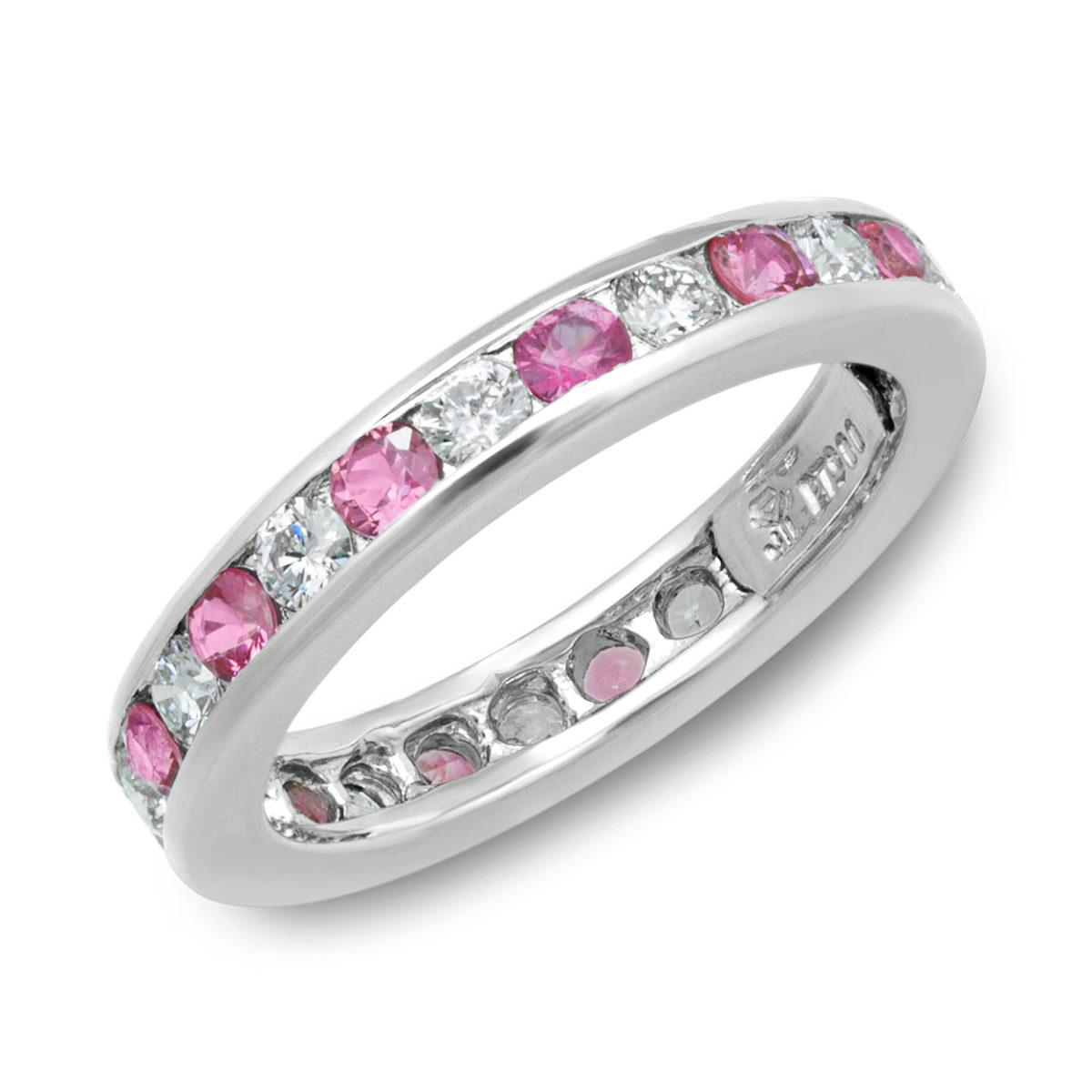 and star vintage white pink sapphire diamond ring