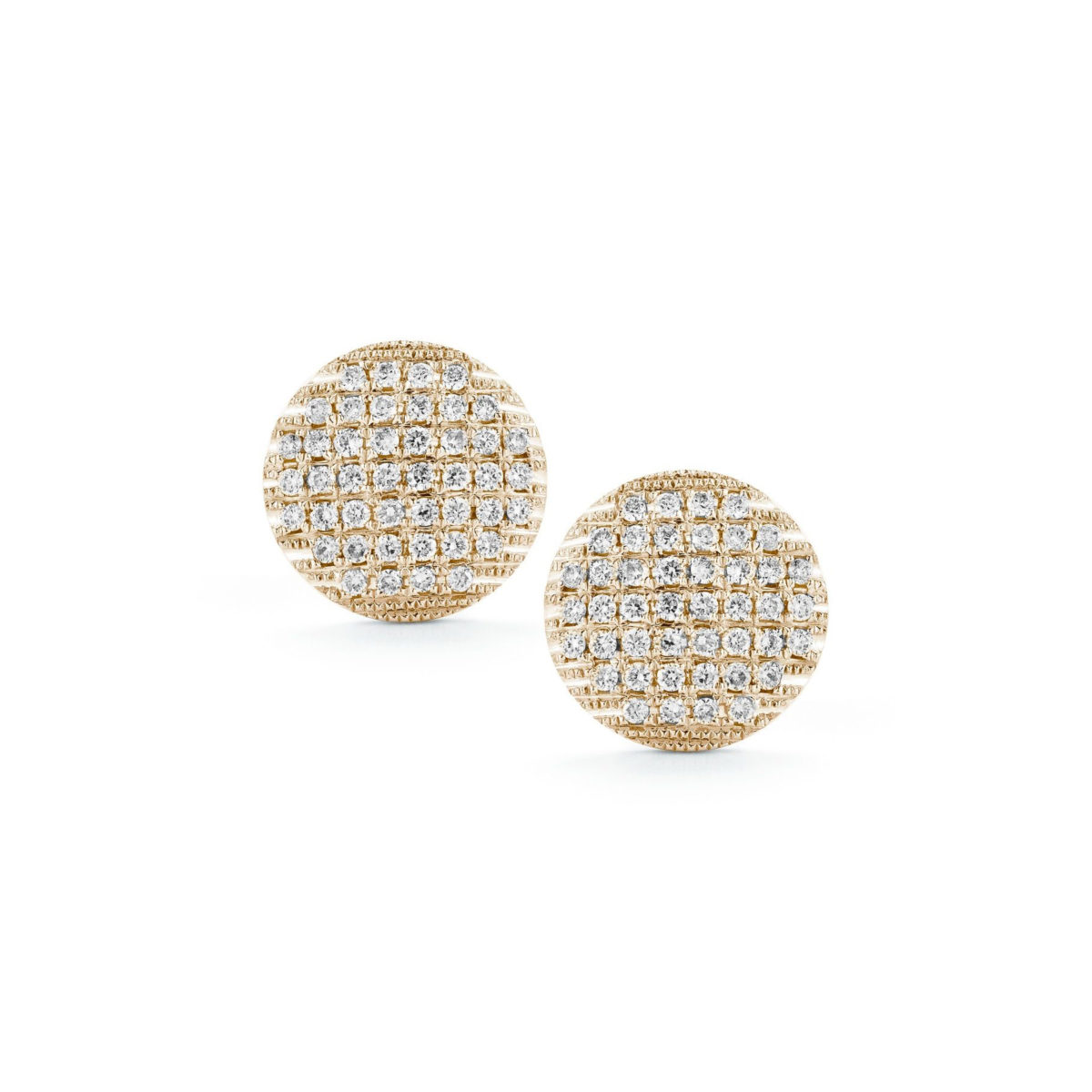 E1008 Dana Rebecca Large Lauren Joy Diamond Stud Earrings In Rose Gold Marshall Pierce Company