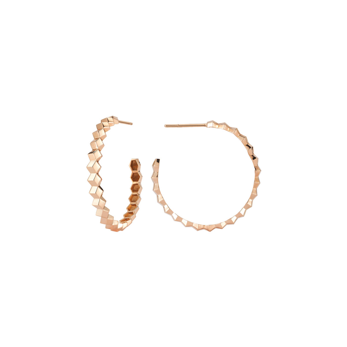 Paolo Costagli Brillante Hoop Earrings in Rose Gold Marshall