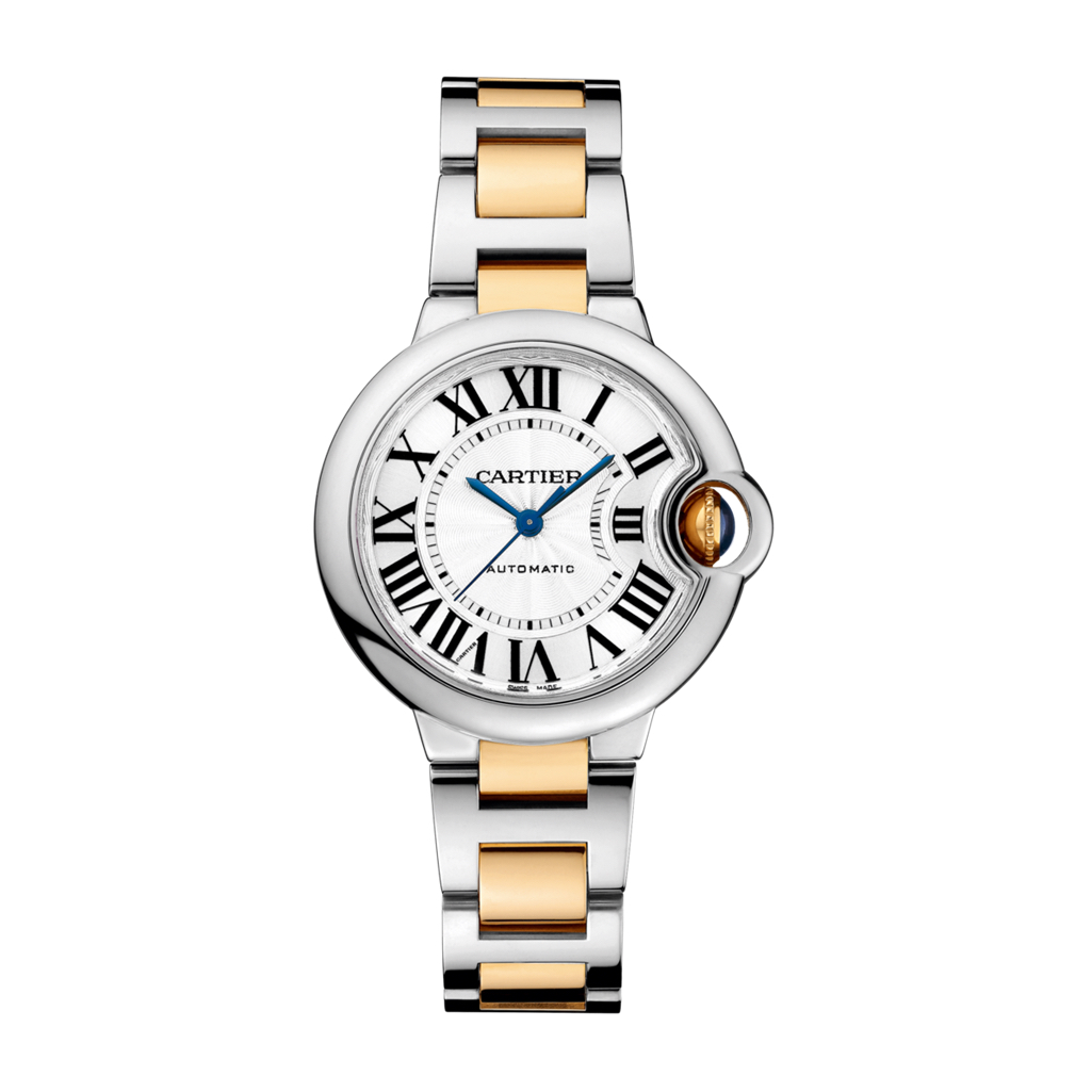 Ballon Bleu de Cartier in Steel & Yellow Gold – 33mm – W2BB0002 Marshall Pierce & Company Chicago Authorized Dealer