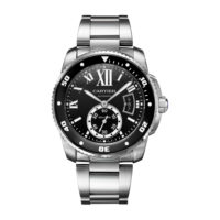 Calibre de Cartier in Steel – 42mm – Men's Watch – W7100057 Marshall Pierce & Company Chicago Authorized Dealer