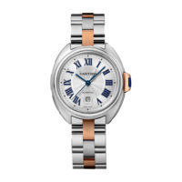 Cle de Cartier small two tone steel rose gold watch W2CL0004 Marshall Pierce Chicago Authorized Dealer