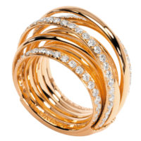 De Grisogono Rose Gold ALLEGRA Diamond Ring