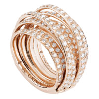De Grisogono Rose Gold ALLEGRA Full Diamond Ring