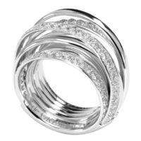 De Grisogono White Gold ALLEGRA Diamond Ring