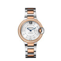 Cartier Ballon Bleu 36mm Steel & Rose Gold with Diamonds - WE902077
