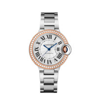 Cartier Ballon Bleu 36mm Steel & Rose Gold with Diamonds - WE902080