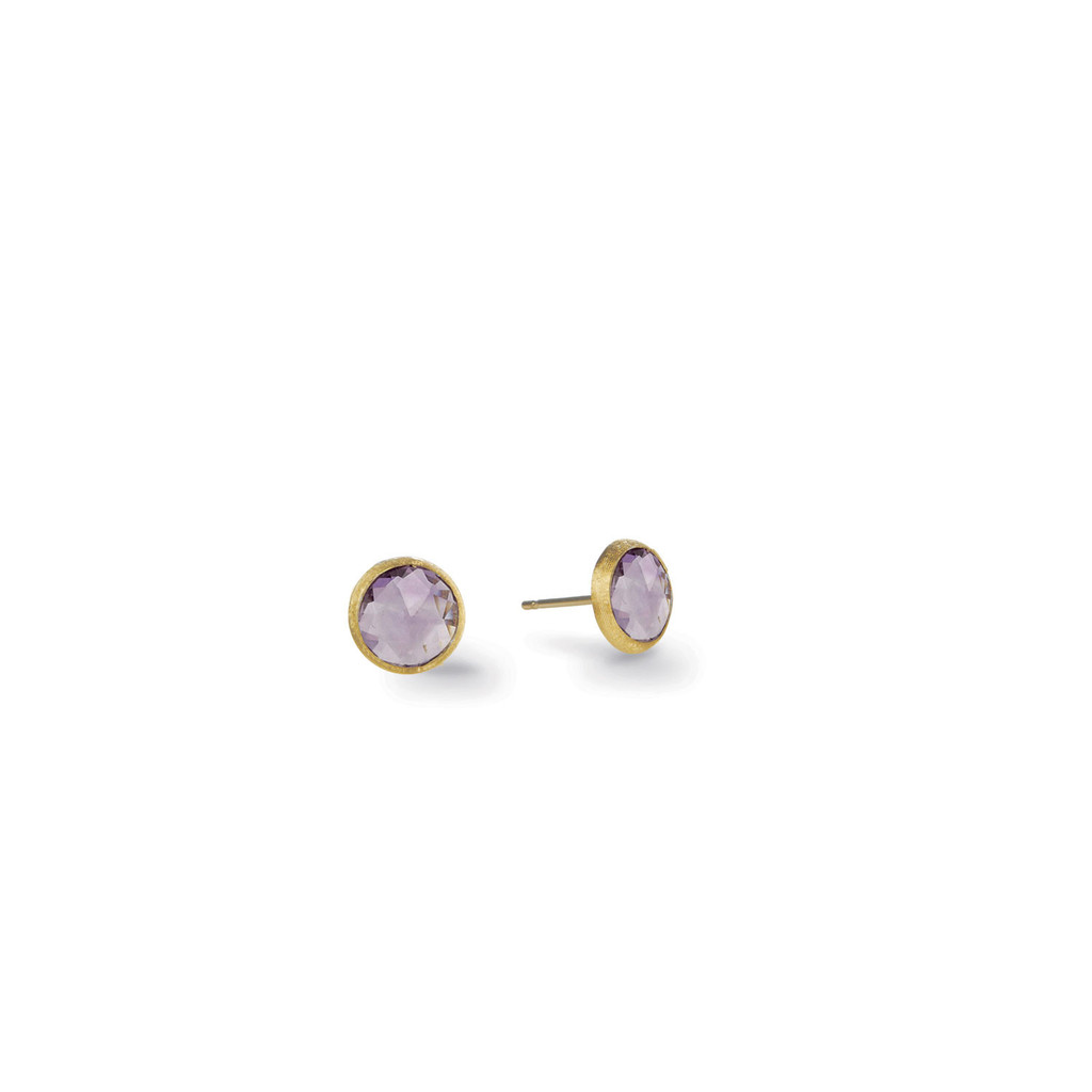 "Marco Bicego ""Jaipur"" Yellow Gold Amethyst Petite Stud Earrings"