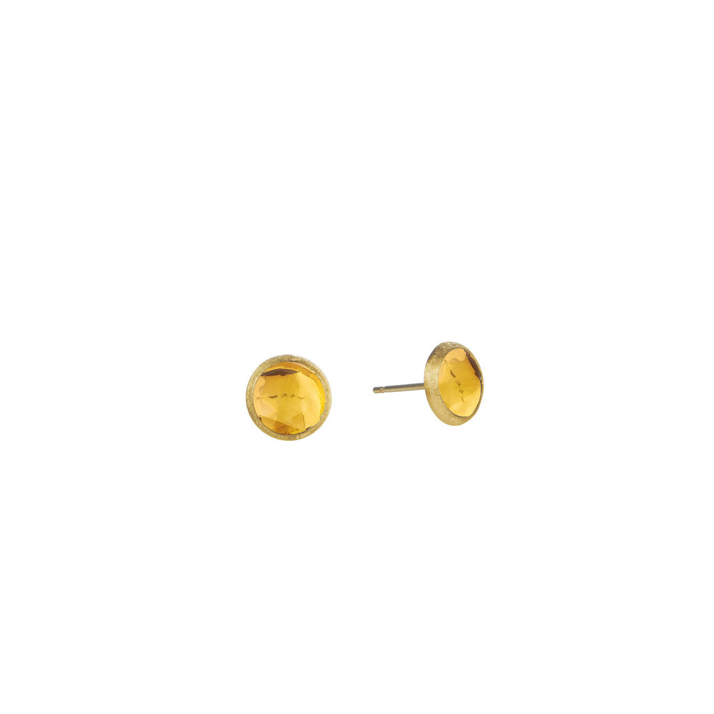 "Marco Bicego ""Jaipur"" Yellow Gold Citrine Petite Stud Earrings"