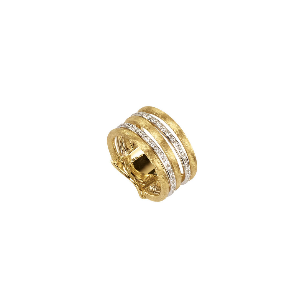 "Marco Bicego ""Jaipur Link"" Yellow Gold & Diamond Five Row Ring"