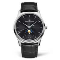 Master Ultra Thin Moon STAINLESS STEEL REF. 1368470 Moon Phase Dial View Marshall Pierce & Company Chicago Jaeger le Coultre Authorized Dealer