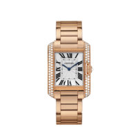 WT100027 Cartier Tank Anglaise Rose Gold Diamonds