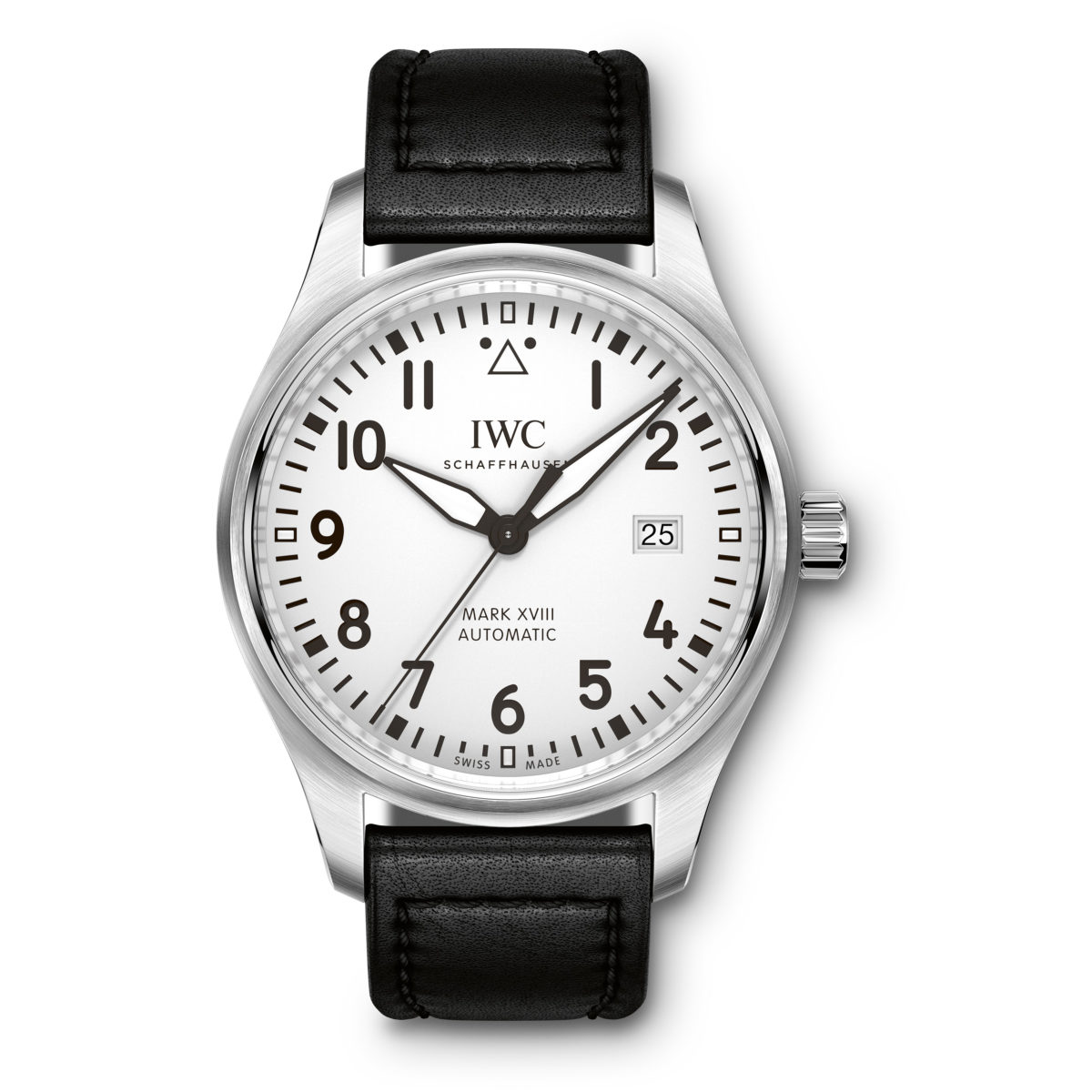 IWC Pilots Watch Mark XViii 18 Automatic Silver Dial Black Strap IW327012