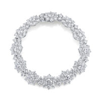 Round Diamond Cluster Bracelet by Marshall Pierce & Company Chicago Fine Jewelry