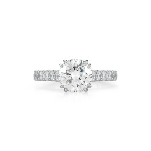 2.00 Carat Round Brilliant-Cut Diamond Engagement Ring