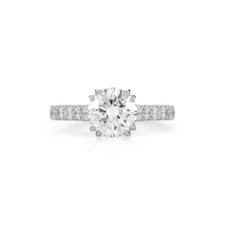 2.00 Carat Round Diamond Engagement Ring by Jack Kelege KPR477RD in Platinum Marshall Pierce & Company Chicago