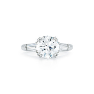 2.82 Carat Round Brilliant-Cut Diamond Engagement Ring