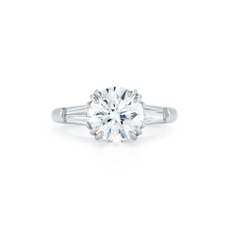 Round Brilliant Diamond Three Stone Engagement Ring