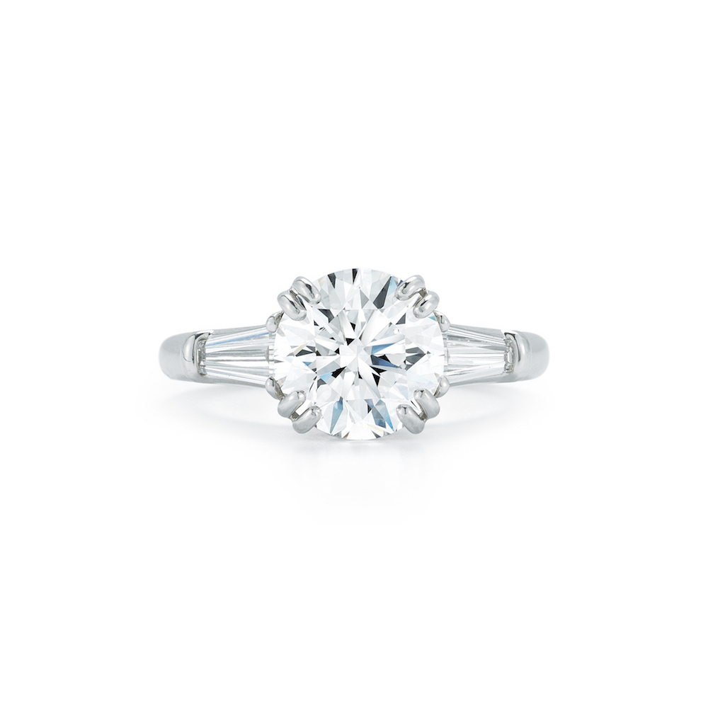 w brilliant twt e diamond certified platinum ring engagement baguette side diamonds rings ct prong d in oval set
