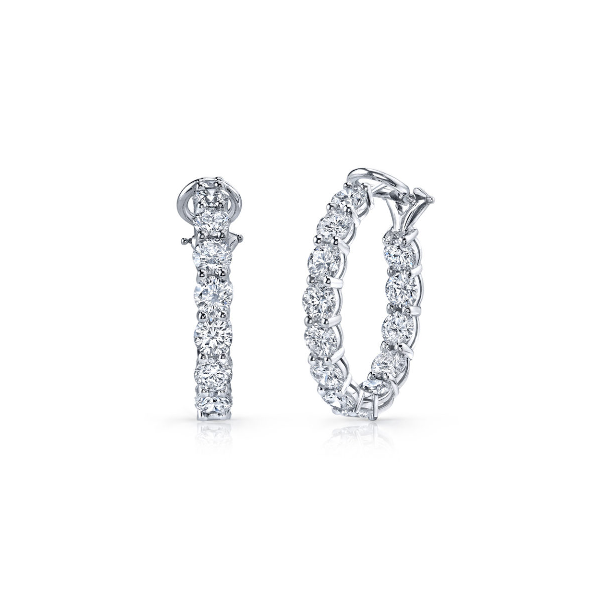 A. Link Diamond Hoop Earrings Marshall Pierce & Company Chicago