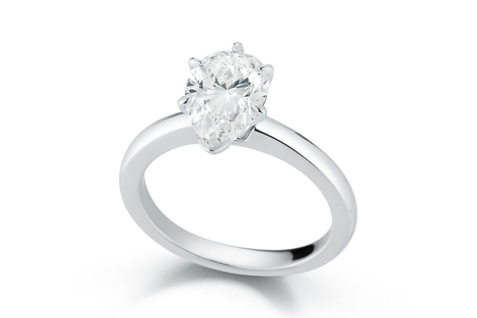 Marshall Pierce & Company Pear Shape Solitaire Engagement Ring