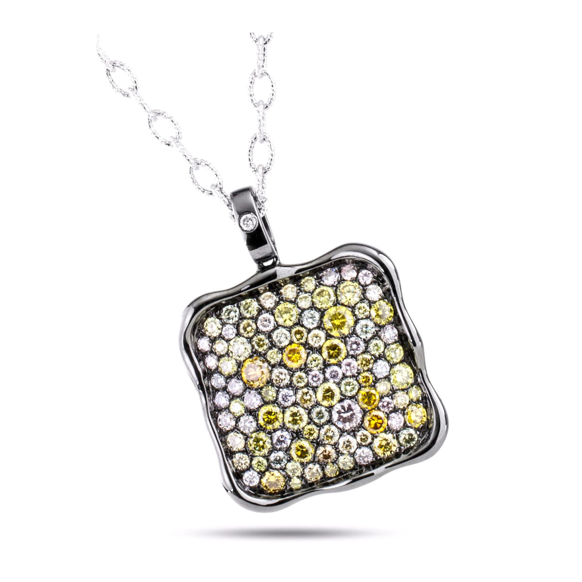 pendant rare white authentic products square chopard diamond gold necklace happy